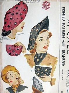 Vintage McCall, sequined beret