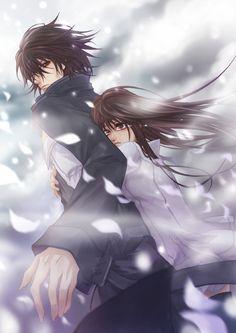Kaname and Yuki.  Vampire Knight.