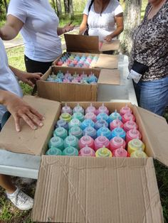 Young Women Value Hike and Finishers Festival With Holi Powder--Kinda a fun idea, like The Color Run