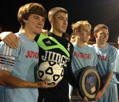 Cherry on top: After winning a Catholic League title with his best friends, Father Judge's Joey Hansen (third from left) was named an All-American. Father Judge, Soccer Season, Catholic, Third, Best Friends, Cherry, Seasons, Times, American