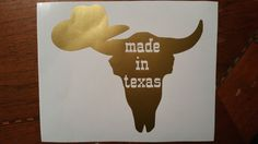 Made in Texas Decal/Texas Y'all/Cowboy Hat Decal/Texas Decal by BluLoveCreations…