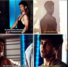Magnus Bane / Alec Lightwood [one of the hottest scenes in the series] Shadowhunters Series, Shadowhunters The Mortal Instruments, Magnus And Alec, Cassie Clare, Cassandra Clare Books, Dark Hunter, Matthew Daddario, Alec Lightwood, Fantasy Island