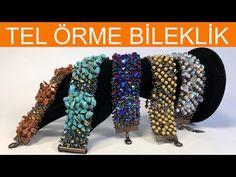 How to make wire bracelet knitting - DIY Schmuck Seed Bead Tutorials, Beading Tutorials, Handmade Bracelets, Handmade Jewelry, Beaded Bracelets, Beaded Jewelry Patterns, Beading Patterns, African Beads Necklace, Bmw Autos