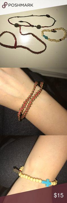 Brandy Melville bracelets Three bracelets, ask if you have questions! Brandy Melville Jewelry Bracelets