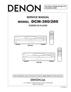 Denon DCM-280 DCM-380 Service Manual Complete On CD £2 Spare Parts, Telephone, Manual, Japan, Phone, Textbook, Japanese