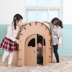 Miley DIY House - probably too small for J+F, but it's adorable!