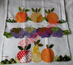 Pano de prato em patchwork