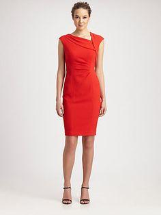 Kay Unger - Textured Crepe Dress - Saks.com