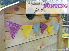Natural Fly Bunting for the Chicken Coop, Barn or Picnic Area