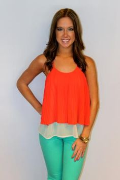 Who doesn't love coral and mint?!?