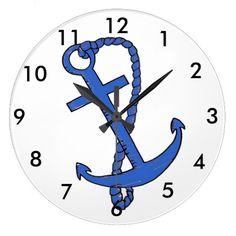 Blue Anchor Clock Clocks