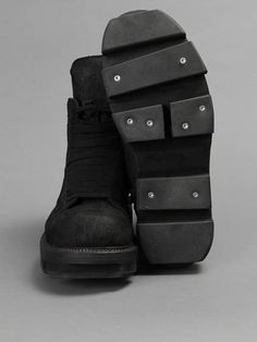 The Matrix | 2013 version w/ Rick Owens Plinth hiking boots with lace and zip closure