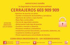Cerrajeros Canet de Berenguer 603909909 en Canet de Berenguer, Comunidad Valenciana