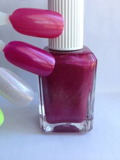 Name: Sample MNC #2  Description: Raspberry with on tone shimmer and scattered holographic pigment.