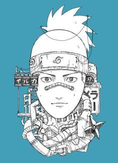 Comic Naruto, Manga Naruto, Naruto Sketch, Naruto Drawings, Naruto Funny, Naruto Shippuden Sasuke, Naruto Kakashi, Cartoon Drawings, Cyberpunk Anime