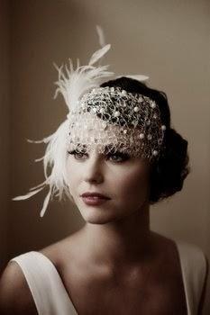 1920's inspired wedding head piece!