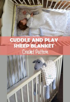 Crochet Baby Patterns Crochet Patterns Sheep Baby Blanket Crochet Pattern, perfect as crochet baby shower gift. It's a . - Crochet Patterns Sheep Baby Blanket Crochet Pattern, perfect as crochet baby shower gift. Baby Knitting Patterns, Crochet Blanket Patterns, Baby Blanket Crochet, Baby Patterns, Afghan Patterns, Knitting Baby Blankets, Crocheted Baby Blankets, The Babys, Practical Baby Shower Gifts