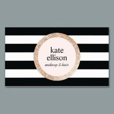 30 best rose gold business cards images on pinterest foil business copper sequin black and white striped beauty double sided standard business cards pack of this great business card design is available for customization reheart Gallery