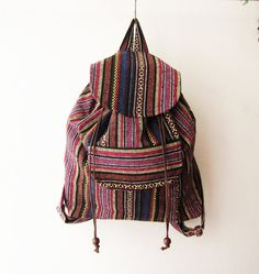 tribal backpack, ethnic rucksack, aztec backpack,ikat bag, hipster backpack, hippie boho school bag ** THE STRAPS IS ADJUSTABLE** This Fair-Trade