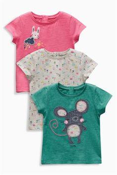 Kup online dziś w Next: Polska Trzy kolorowe koszulki z długim rękawem z wizerunkiem postaci (3-6 lat)