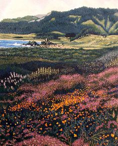 Gordon Mortensen California Poppies Hand Signed Woodcut Fine Art 83 MakeOffer - Woodcut Art - Ideas of Woodcut Art Landscape Edging, Landscape Art, Landscape Paintings, Landscape Photography, Art Photography, Landscapes, Psychedelic Art, Tag Art, Aesthetic Art
