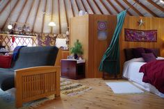 Vacation Rentals, Homes, Experiences & Places - Airbnb Luxury Yurt, October 2, Spring Water, Stay The Night, Vermont, Places To See, Tiny House, Woods, United States