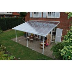 Palram Feria™ Patio Cover Awning Protect yourself and your patio from the elements with the new Palram Feria patio cover awning. UV protected, polycarbonate roof panels protect you, your family and pa