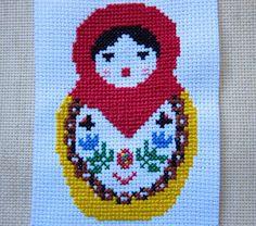 Oksana Plus Hobbies: Free Pattern: Cross-Stitch Matryoshka (Схема вышивки матрешки)