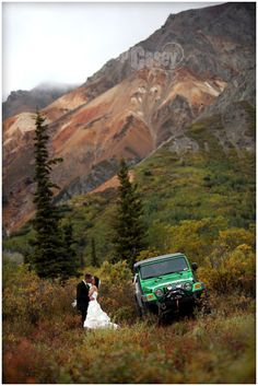 A lot of couples love the idea of adventure - what better way than going into the back country with your Jeep 4x4 for a photo shoot!