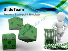 Strategy Game Powerpoint Templates Green Dices Business Ppt Designs #PowerPoint #Templates #Themes #Background