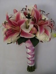 Star gazer lily bouquet