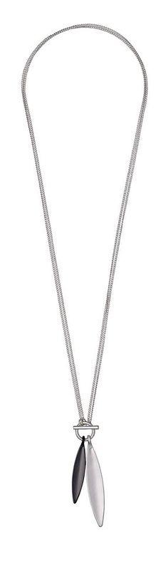 Pilgrim Kette mit Anhänger »Luna_PI« für 39,95€. 2 in 1 Halskette - lang oder kurz benutzen, Mischmetall plattiert, Silber und Hematit gemischt bei OTTO