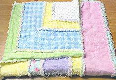 DIY Flannel Baby Rag Quilt | One Good Thing by Jillee Maybe with flannel shirts, from thrift store??