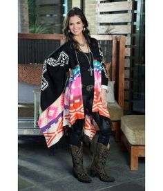 "Cowgirl Justice ""Cisco"" Poncho style Shawl"