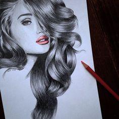 Locks of love 😍 All haired out 😁 #draw #drawing #portrait #blackandwhite #rosie #rosiehuntington #rosiehuntingtonwhiteley #model #beauty #gorgeous #eyes #hair #lips  #sketchoftheday #sketchoftheday #fashion #artoftheday #artofdrawingg #artfido #picoftheday #photooftheday #arts_help #artshelp #instaartist #dada #instalike #worldofartists #worldofpencils #creativeempire #goodnight
