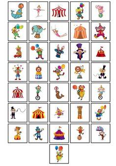 A imprimer taille réelle.A découper, puis à plastifier. Clown Crafts, Circus Crafts, Carnival Crafts, Circus Birthday, Circus Theme, Circus Party, Image Cirque, Circus Activities, Holiday Club