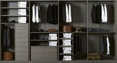 We at Sky Kitchens and Bedrooms specialize in designing adorable walk in wardrobes in London. Our fittings are according to modern European styles and trends. Men Closet, Wardrobe Closet, Closet Bedroom, Closet Space, Walk In Closet, Black Closet, Capsule Wardrobe, Modular Closet Systems, Modular Wardrobes