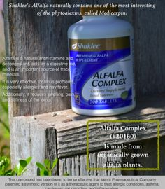 Shaklee's Alfalfa great for Fibromyalgia, Water Retention & Allergies! It has helped me so much! www.gaylabrock.com