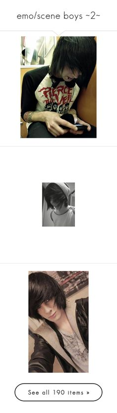 """""""emo/scene boys ~2~"""" by i-am-the-one-and-only ❤ liked on Polyvore featuring collection, emoboys, sceneboys, people, boys, guys, hair, pictures, anons and photos"""