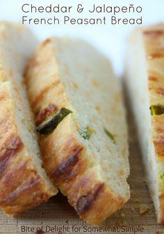 cheddar jalapeno peasant bread