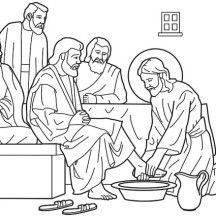 Download or print this amazing coloring page: Jesus Washes