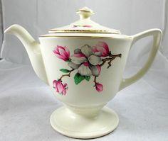 Homer Laughlin Dogwood Liberty Vintage 5 Cup Teapot