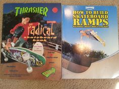 Lot Thrasher Books How To Build Ramps & Radical Skateboard Book Kevin Thatcher
