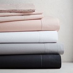 west elm's modern bed sheet sets are soft and comfortable. Our collection includes organic cotton sheet sets, Tencel bed sheets, linen sheets and more. Organic Cotton Sheets, 100 Cotton Sheets, Cotton Sheet Sets, Bed Sheet Sets, Cotton Bedding, Linen Bedding, Cotton Pillow, Bed Linens, Dark Bedding