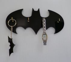 Retro Batman Key Rack / Jewellery Organiser by 2D23D on Etsy