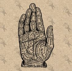 Hand Map Palmistry Vintage image Instant Download Digital printable clipart graphic Burlap Fabric Transfer Iron On  Decor T-shirt HQ 300dpi by UnoPrint on Etsy #hq #png #bw #Ephemera #diy #old #book #illustration #gravure #inspiration #retro #antique #vintage #300dpi #craft #draw #drawing  #black #white #printable #crafts #transfer #decor #hand #digital #collage #scrapbooking #quality
