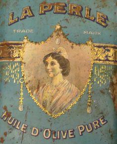 . Vintage Paris, French Vintage, Vintage Labels, Vintage Posters, Olives, Tin Cans, The Good Old Days, Vintage Pictures, Tins