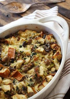 Wild Mushroom, Sausage and Gruyère Bread Pudding from SoupAddict.com ...