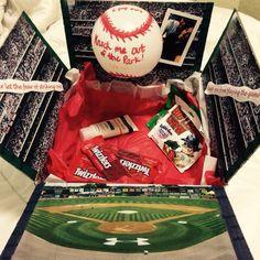 Baseball Themed Care Package Military Life Pinterest