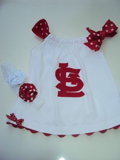 St. Louis Cardinals baby dress!